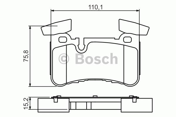 Kit de plaquettes de frein, frein à disque - BOSCH - 0 986 494 411