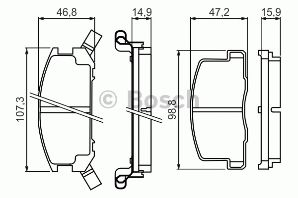 Kit de plaquettes de frein, frein à disque - BOSCH - 0 986 494 412