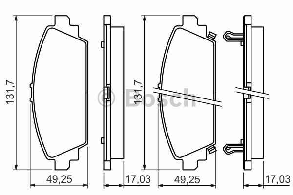Kit de plaquettes de frein, frein à disque - BOSCH - 0 986 494 414