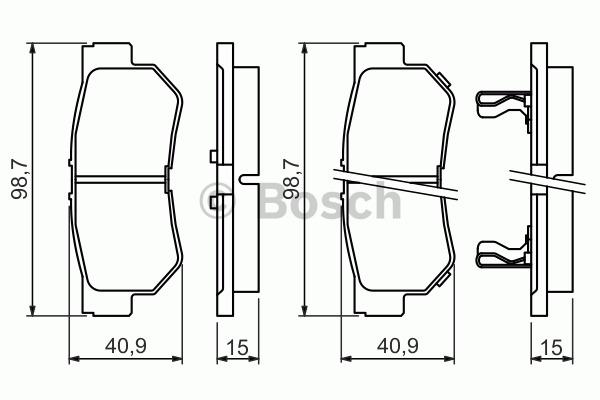 Kit de plaquettes de frein, frein à disque - BOSCH - 0 986 494 417