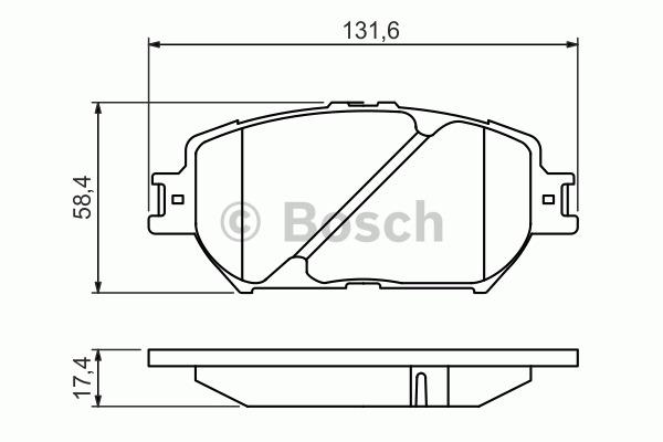 Kit de plaquettes de frein, frein à disque - BOSCH - 0 986 494 418