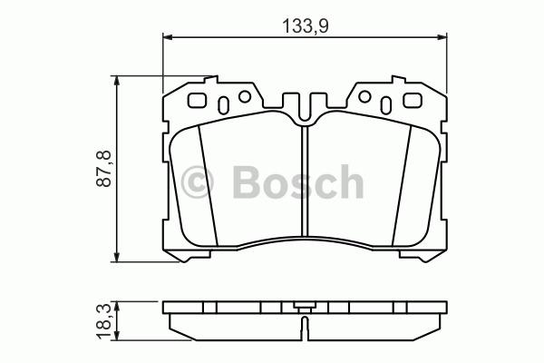 Kit de plaquettes de frein, frein à disque - BOSCH - 0 986 494 423