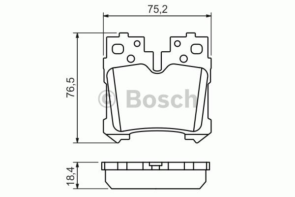 Kit de plaquettes de frein, frein à disque - BOSCH - 0 986 494 424