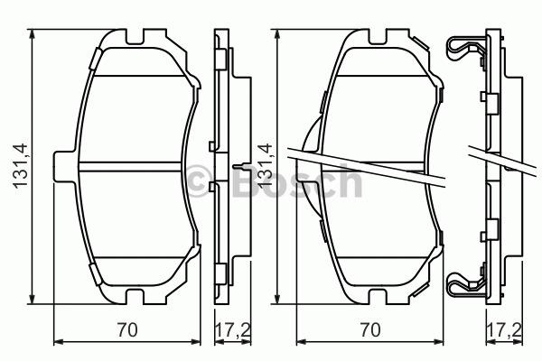 Kit de plaquettes de frein, frein à disque - BOSCH - 0 986 494 426
