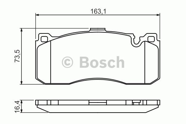 Kit de plaquettes de frein, frein à disque - BOSCH - 0 986 494 428