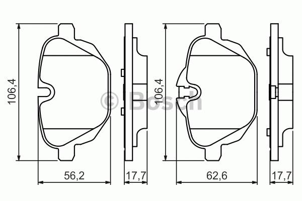 Kit de plaquettes de frein, frein à disque - BOSCH - 0 986 494 432
