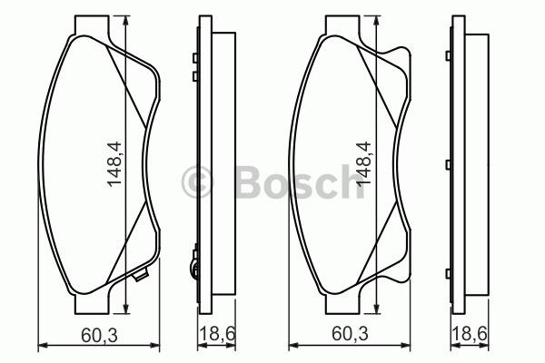Kit de plaquettes de frein, frein à disque - BOSCH - 0 986 494 433