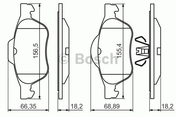 Kit de plaquettes de frein, frein à disque - BOSCH - 0 986 494 439