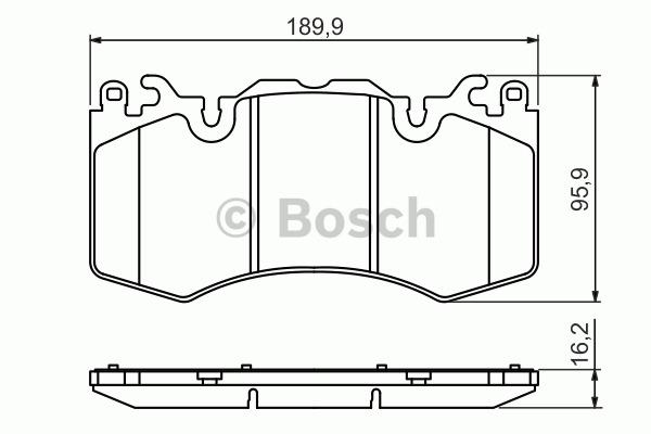 Kit de plaquettes de frein, frein à disque - BOSCH - 0 986 494 440