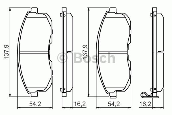 Kit de plaquettes de frein, frein à disque - BOSCH - 0 986 494 443