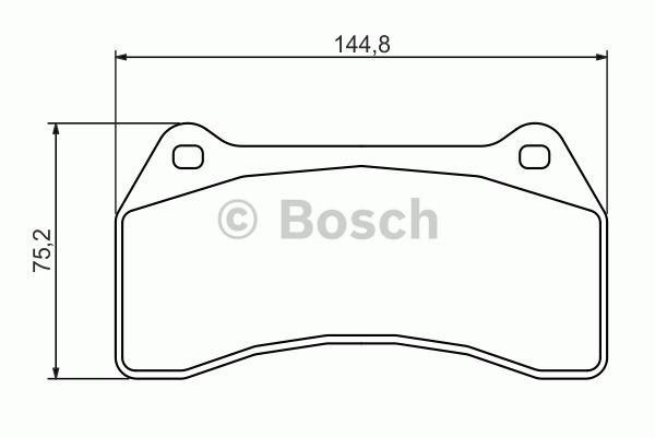 Kit de plaquettes de frein, frein à disque - BOSCH - 0 986 494 448