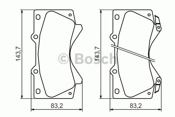 Kit de plaquettes de frein, frein à disque - BOSCH - 0 986 494 449