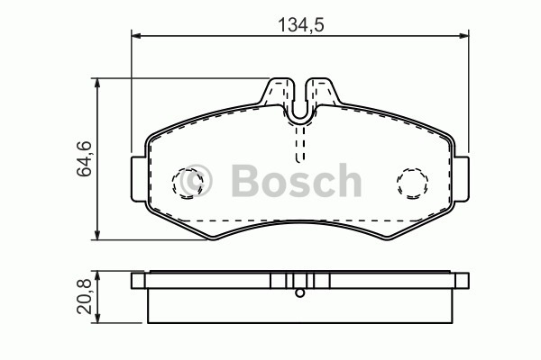 Kit de plaquettes de frein, frein à disque - BOSCH - 0 986 494 451