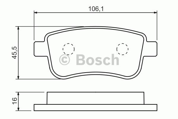 Kit de plaquettes de frein, frein à disque - BOSCH - 0 986 494 452