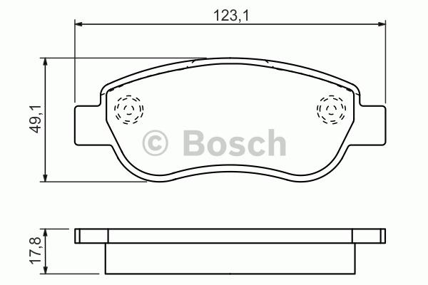 Kit de plaquettes de frein, frein à disque - BOSCH - 0 986 494 454