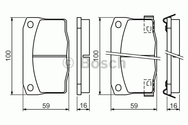 Kit de plaquettes de frein, frein à disque - BOSCH - 0 986 494 455