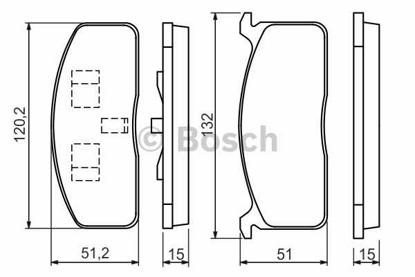 Kit de plaquettes de frein, frein à disque - BOSCH - 0 986 494 457