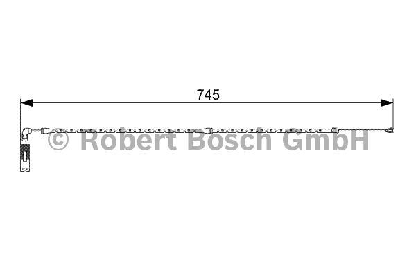 Contact d'avertissement, usure des garnitures de frein - BOSCH - 1 987 473 000