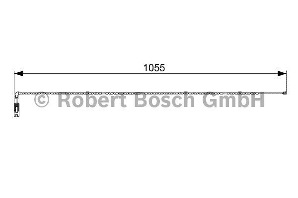 Contact d'avertissement, usure des garnitures de frein - BOSCH - 1 987 473 001