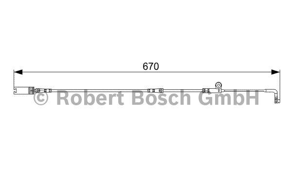 Contact d'avertissement, usure des garnitures de frein - BOSCH - 1 987 473 002