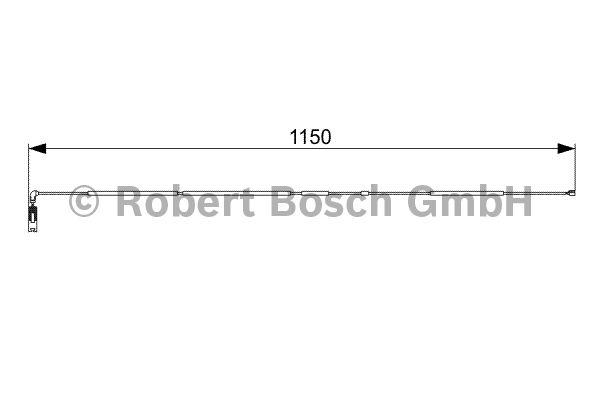 Contact d'avertissement, usure des garnitures de frein - BOSCH - 1 987 473 004