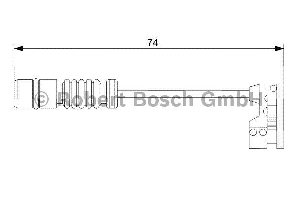 Contact d'avertissement, usure des garnitures de frein - BOSCH - 1 987 473 008
