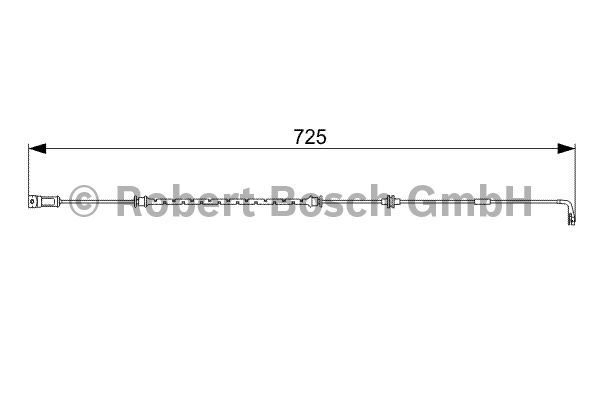 Contact d'avertissement, usure des garnitures de frein - BOSCH - 1 987 473 017