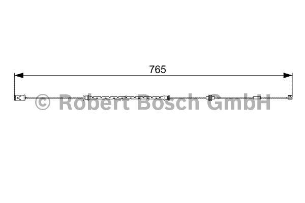 Contact d'avertissement, usure des garnitures de frein - BOSCH - 1 987 473 018