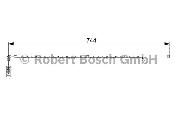 Contact d'avertissement, usure des garnitures de frein - BOSCH - 1 987 473 021
