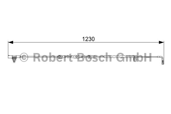 Contact d'avertissement, usure des garnitures de frein - BOSCH - 1 987 473 022