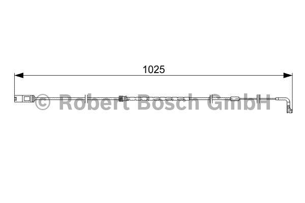Contact d'avertissement, usure des garnitures de frein - BOSCH - 1 987 473 026