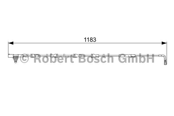 Contact d'avertissement, usure des garnitures de frein - BOSCH - 1 987 473 031