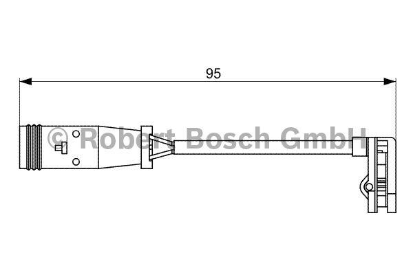 Contact d'avertissement, usure des garnitures de frein - BOSCH - 1 987 473 036