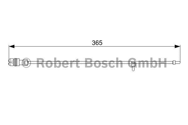 Contact d'avertissement, usure des garnitures de frein - BOSCH - 1 987 473 040