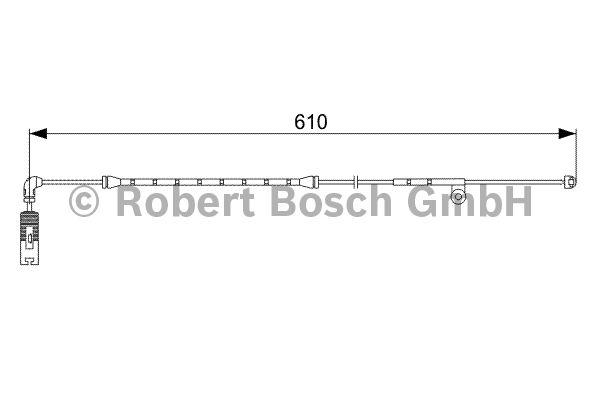 Contact d'avertissement, usure des garnitures de frein - BOSCH - 1 987 473 047