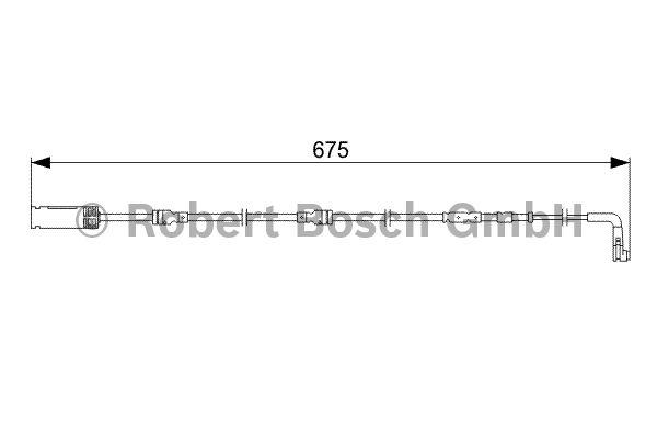 Contact d'avertissement, usure des garnitures de frein - BOSCH - 1 987 473 051