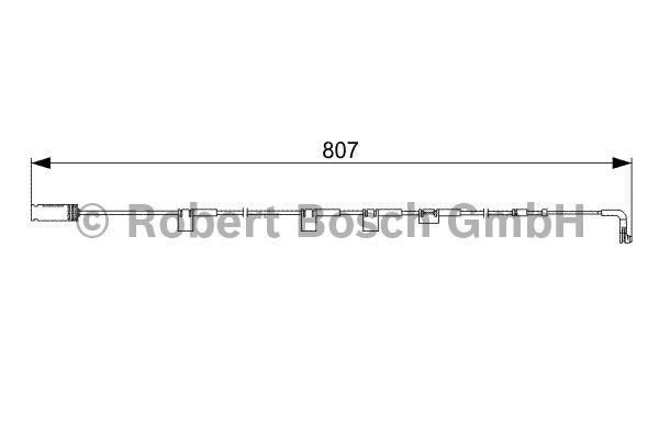 Contact d'avertissement, usure des garnitures de frein - BOSCH - 1 987 473 058
