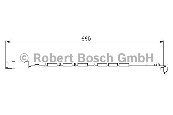 Contact d'avertissement, usure des garnitures de frein - BOSCH - 1 987 474 907