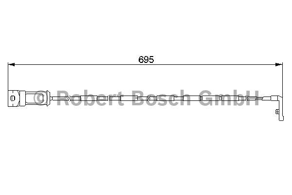 Contact d'avertissement, usure des garnitures de frein - BOSCH - 1 987 474 929
