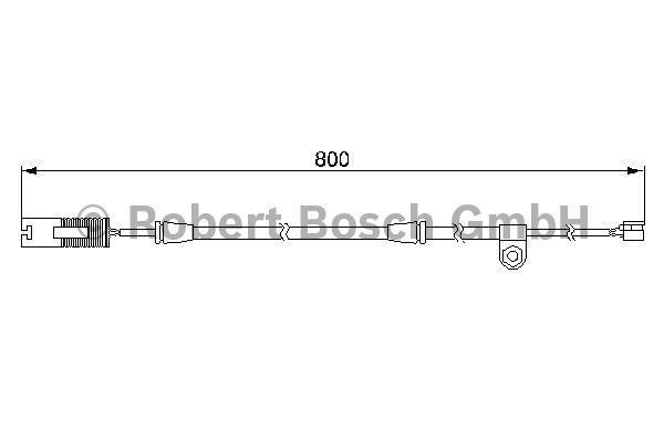 Contact d'avertissement, usure des garnitures de frein - BOSCH - 1 987 474 945