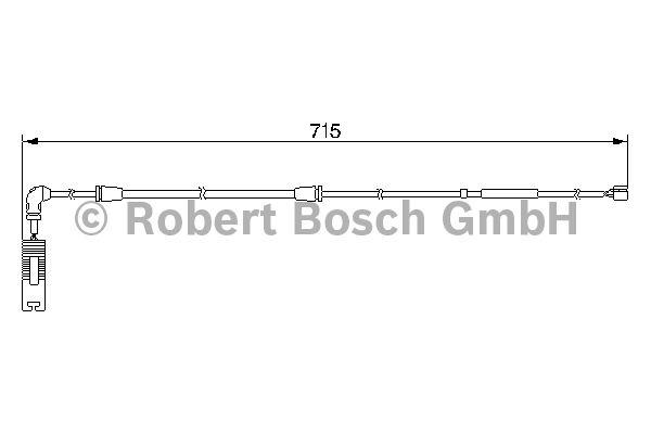 Contact d'avertissement, usure des garnitures de frein - BOSCH - 1 987 474 946