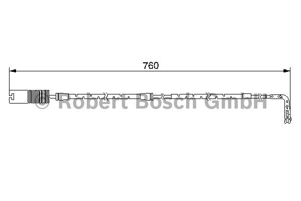 Contact d'avertissement, usure des garnitures de frein - BOSCH - 1 987 474 948