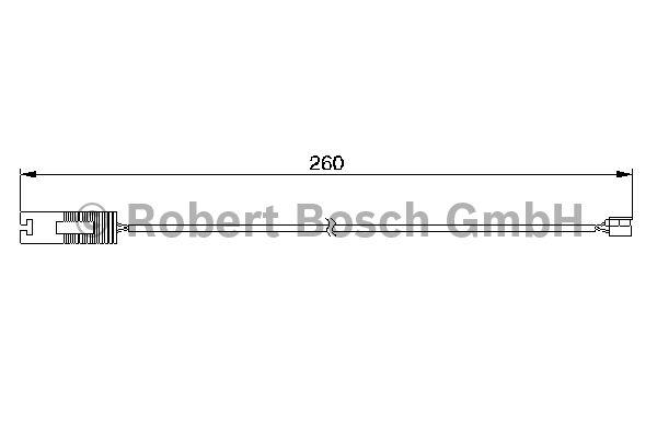 Contact d'avertissement, usure des garnitures de frein - BOSCH - 1 987 474 953