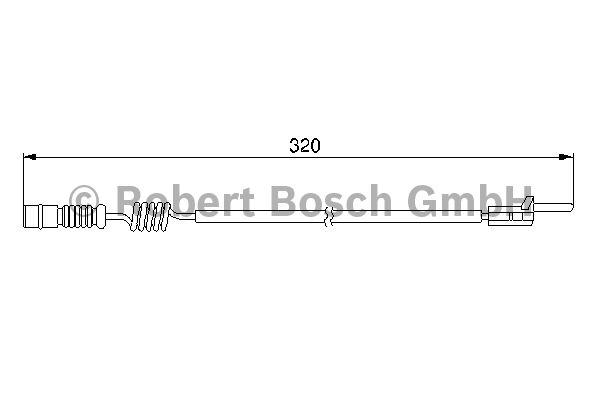Contact d'avertissement, usure des garnitures de frein - BOSCH - 1 987 474 964