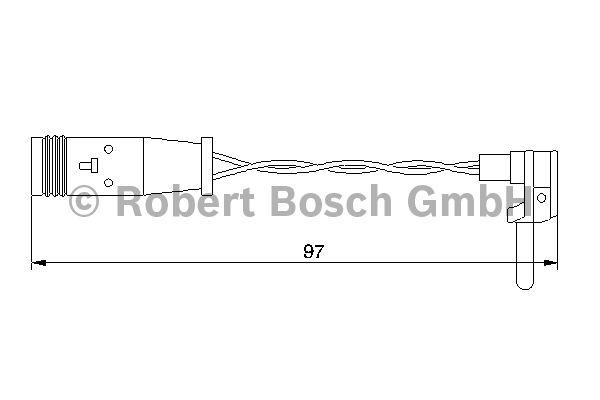 Contact d'avertissement, usure des garnitures de frein - BOSCH - 1 987 474 966