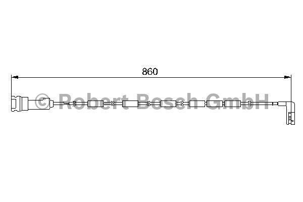 Contact d'avertissement, usure des garnitures de frein - BOSCH - 1 987 474 970