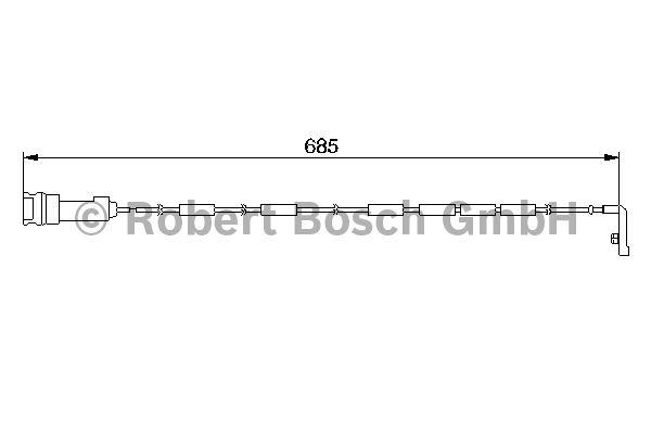 Contact d'avertissement, usure des garnitures de frein - BOSCH - 1 987 474 974