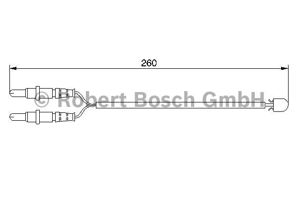 Contact d'avertissement, usure des garnitures de frein - BOSCH - 1 987 474 975