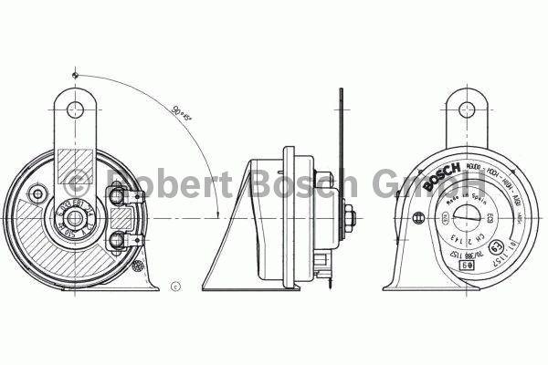 Trompette - BOSCH - 6 033 FB1 214