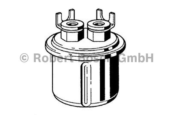 Filtre à carburant - BOSCH - 0 986 450 104